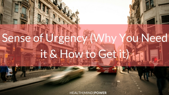 blog about having urgency
