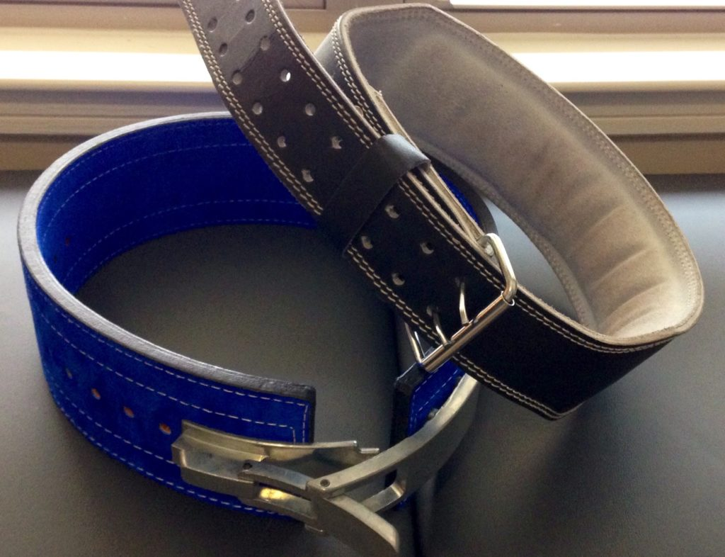 blue power lifting belt